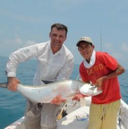 Shane fishing in belize